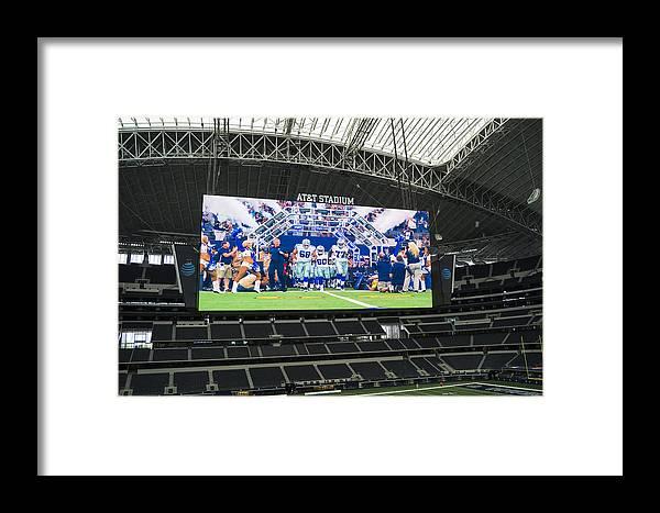 Dallas Cowboys Framed Print featuring the photograph Dallas Cowboys Take The Field by Craig David Morrison