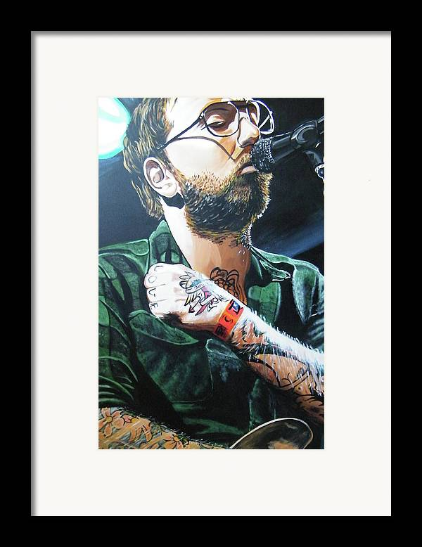 Dallas Green Framed Print featuring the painting Dallas Green by Aaron Joseph Gutierrez