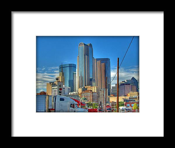 Dallas Framed Print featuring the photograph Dallas Morning Skyline by Farol Tomson