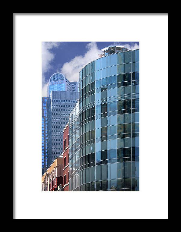 Architecture Framed Print featuring the photograph Dallas Skyscrapers by David and Carol Kelly