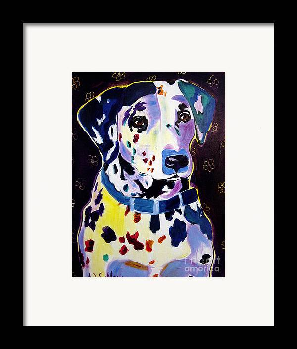Dog Framed Print featuring the painting Dalmatian - Dottie by Alicia VanNoy Call
