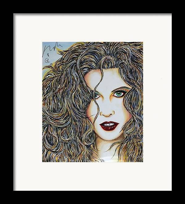 Actress Framed Print featuring the mixed media Dam...lay Me Down by Joseph Lawrence Vasile