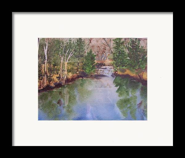 Landscape Framed Print featuring the painting Dan S Pond by Audrey Bunchkowski