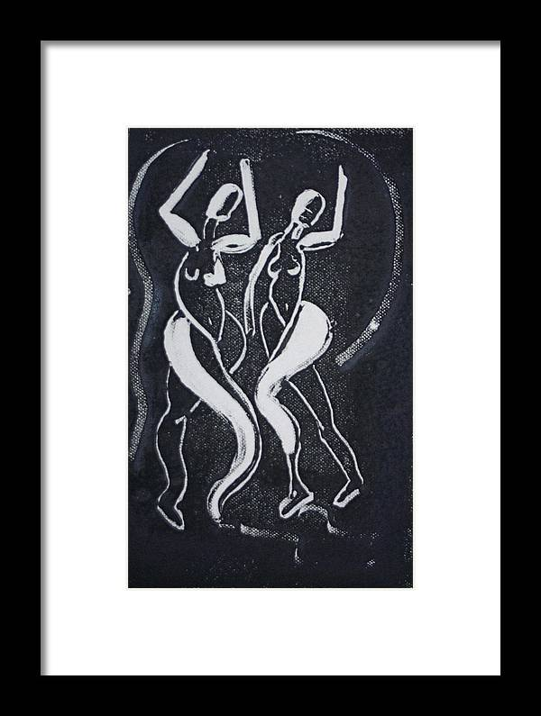 Dance Framed Print featuring the painting Dance IIi by Dan Earle