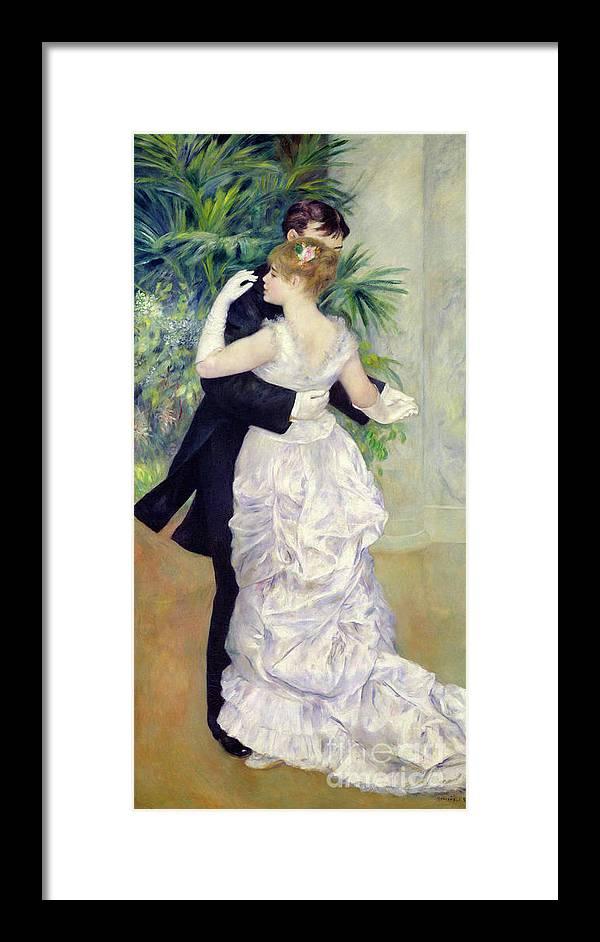 Dance In The City Framed Print By Pierre Auguste Renoir