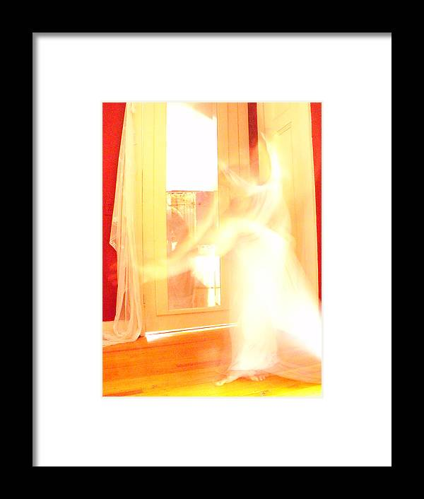 Dancer Framed Print featuring the photograph Dance In White 1 by Erika Brown