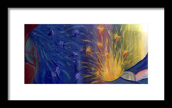 Colorful Framed Print featuring the painting Dance Of Life by Hollie Leffel