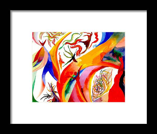 Shaman Framed Print featuring the painting Dance Of Shaman by Peter Shor