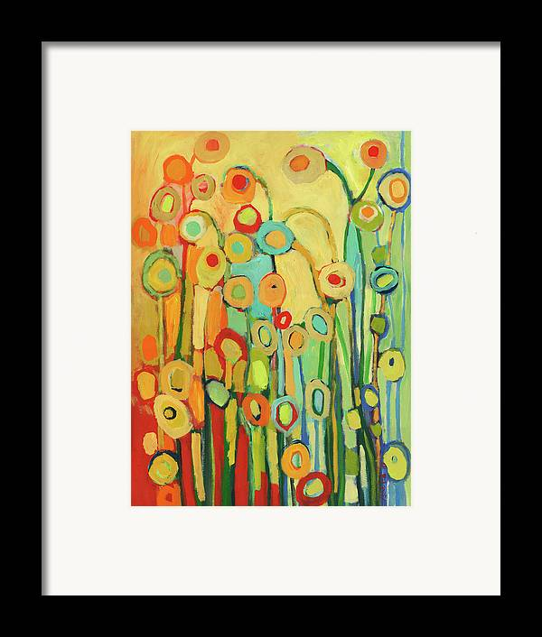 Floral Framed Print featuring the painting Dance Of The Flower Pods by Jennifer Lommers