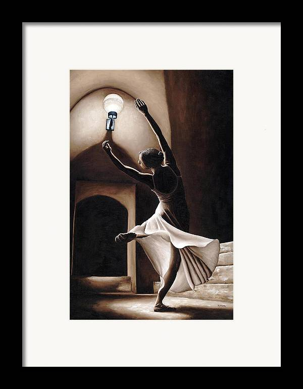 Dance Framed Print featuring the painting Dance Seclusion by Richard Young