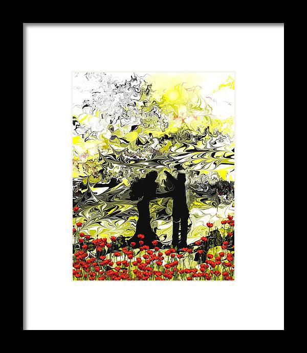 Landscape Framed Print featuring the digital art Dance With Me by Abel Padilla
