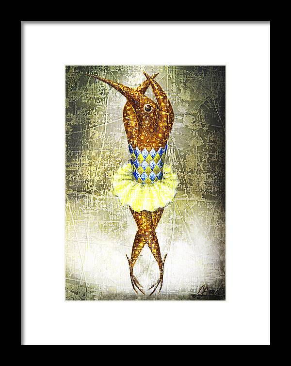 Ballerina Framed Print featuring the painting Dancer 2 by Lolita Bronzini