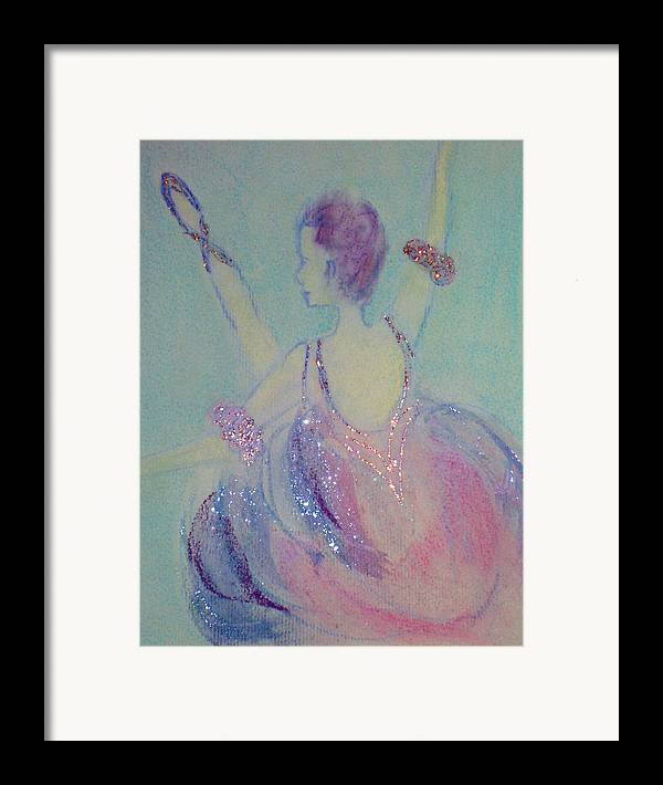 Dancer Framed Print featuring the painting Dancer At The Follies by Michela Akers