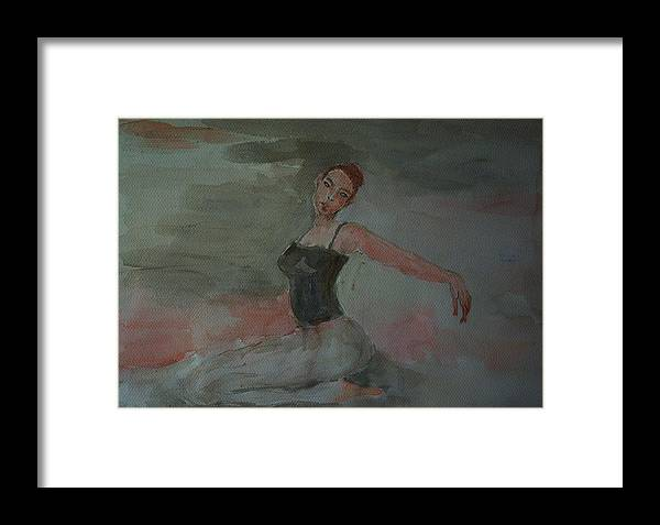 Dance Framed Print featuring the painting Dancer by Liliana Andrei