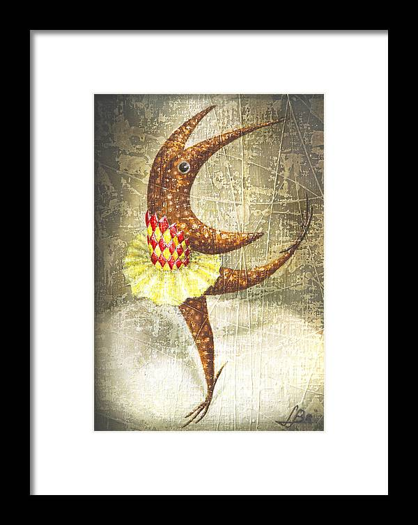 Ballerina Framed Print featuring the painting Dancer by Lolita Bronzini