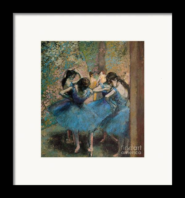 Dancers Framed Print featuring the painting Dancers In Blue by Edgar Degas