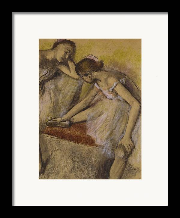 Dancers Framed Print featuring the painting Dancers In Repose by Edgar Degas