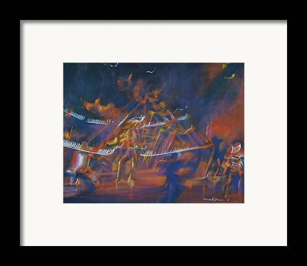 Music And Dance Framed Print featuring the painting Dancin by Howard Stroman