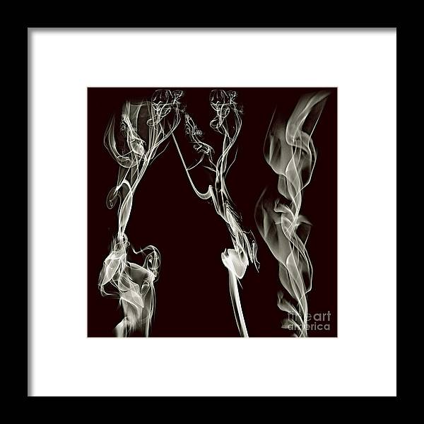 Clay Framed Print featuring the digital art Dancing Apparitions by Clayton Bruster
