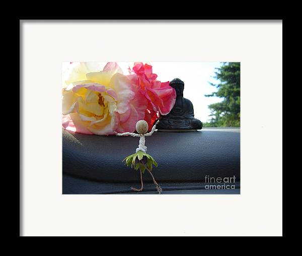 Dancing Framed Print featuring the photograph Dancing Before Buddha And Roses by Eric Singleton