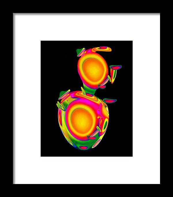Egg Framed Print featuring the mixed media Dancing Egg Ant by Jacqueline Migell