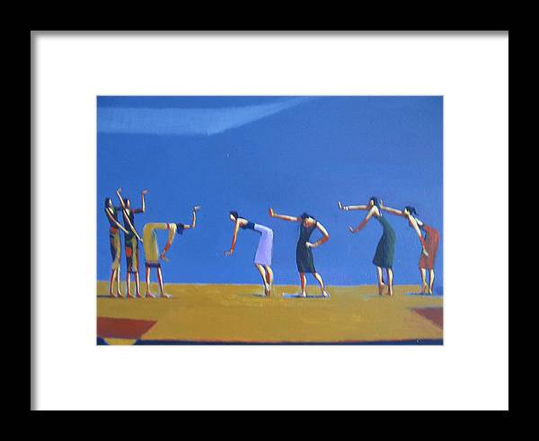 Figure Framed Print featuring the painting Dancing Figures by Ihab Bishai