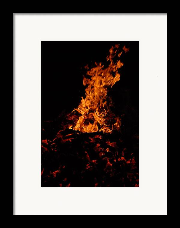 Fire Framed Print featuring the photograph Dancing Fire by Steven Crown