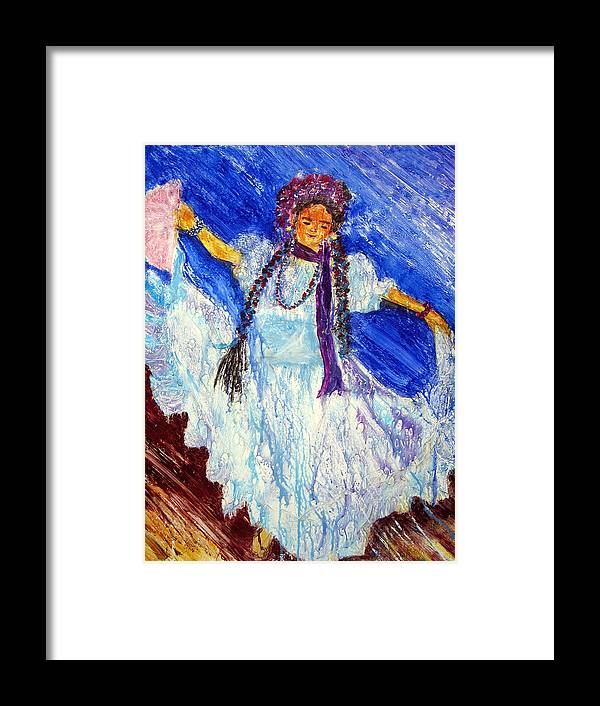 Yupo Paper Framed Print featuring the painting Dancing Free by Sarah Hornsby