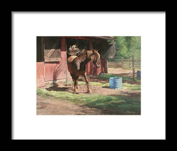 Horse Framed Print featuring the painting Dancing Horse by Robert Tutsky