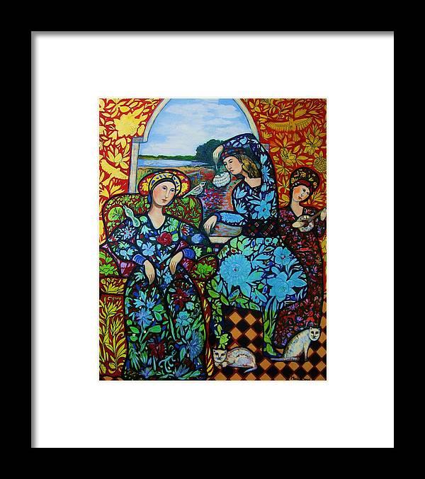 Newburyport Framed Print featuring the painting Dancing in Newburyport by Marilene Sawaf