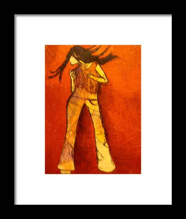 Portrait Framed Print featuring the painting Dancing In The Club by L Visser