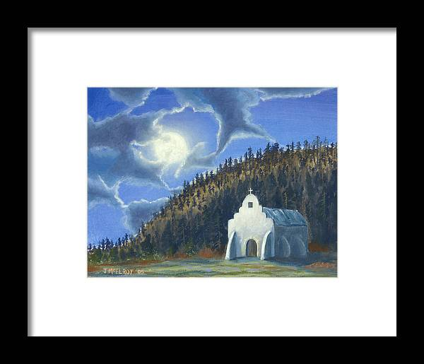 Landscape Framed Print featuring the painting Dancing In The Moonlight by Jerry McElroy