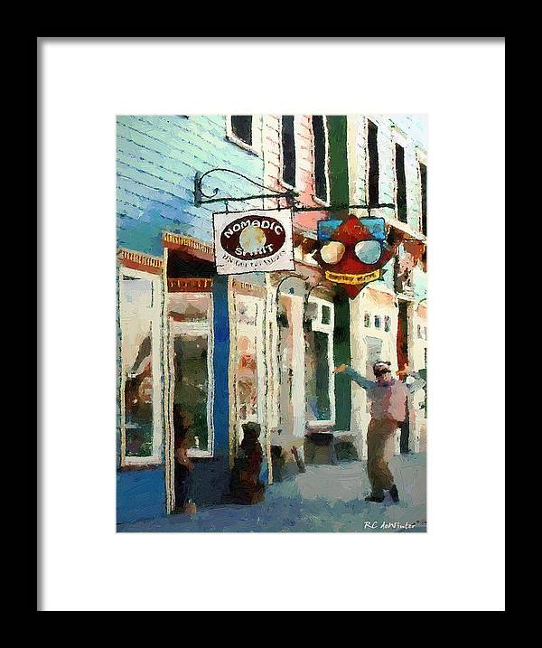 Colorado Framed Print featuring the painting Dancing In The Street by RC DeWinter