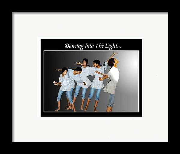 Photo Framed Print featuring the photograph Dancing Into The Light by Richard Gordon