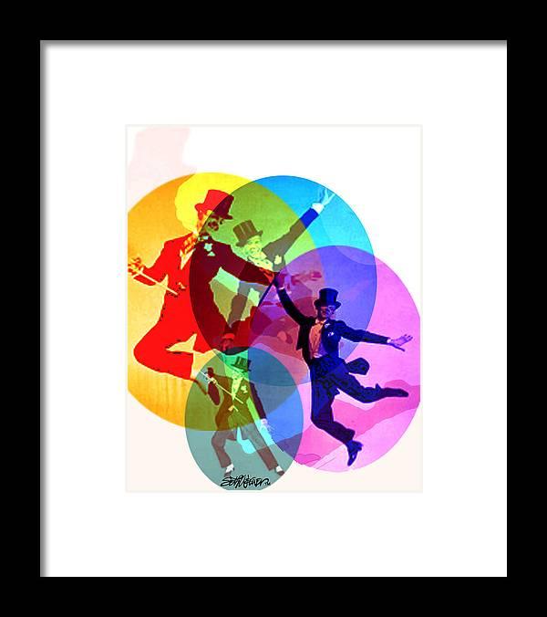 Dancing On Air Framed Print featuring the digital art Dancing on Air by Seth Weaver