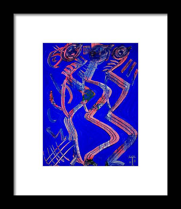 Mixed Media Prints Framed Print featuring the painting Dancing Queen by Teo Santa