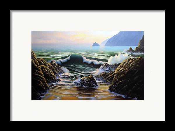 Dancing Tide Framed Print featuring the painting Dancing Tide by Frank Wilson