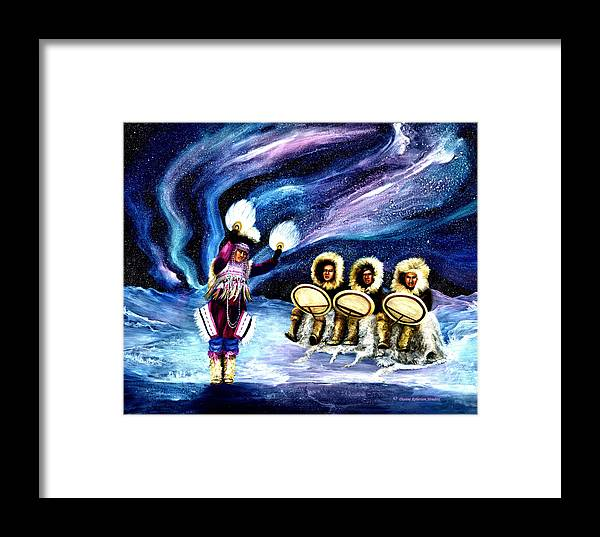Alaska Framed Print featuring the painting Dancing With The Spirits by Dianne Roberson