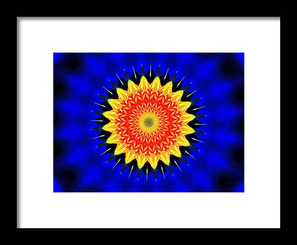 Nature Framed Print featuring the photograph Dandelion Abstract by Johann Todesengel