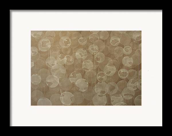 Abstract Framed Print featuring the painting Dandelion by Jitka Anlaufova
