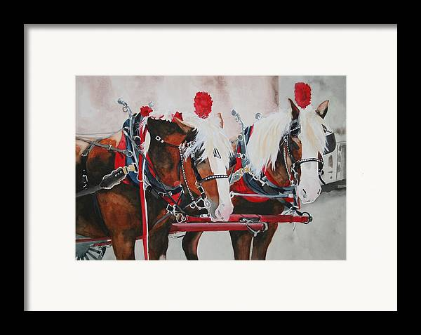 Horse Framed Print featuring the painting Dandy Duo by Jean Blackmer
