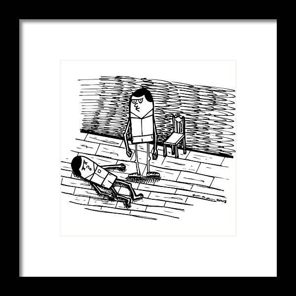 Drawing Framed Print featuring the drawing Dang - No Good by Karl Addison