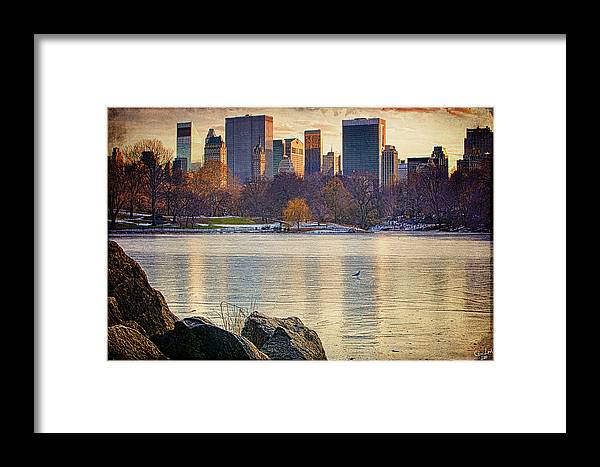 Central Park Framed Print featuring the photograph Danger - Thin Ice by Chris Lord