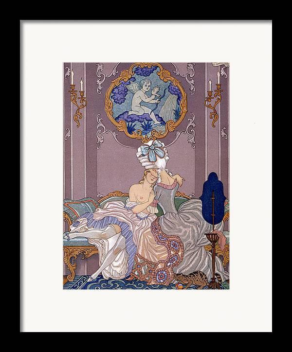 Barbier Framed Print featuring the painting Dangerous Liaisons by Georges Barbier