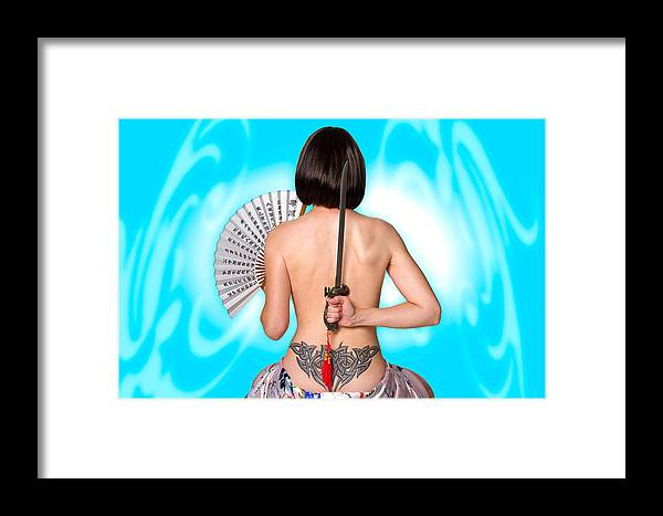 Girl Framed Print featuring the photograph Dangerous Passion by Dean Bertoncelj