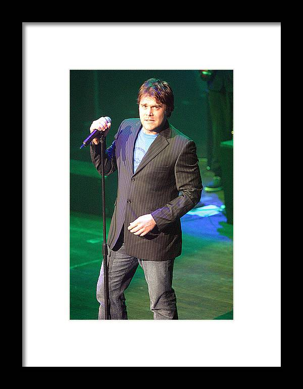 Photographer Framed Print featuring the photograph Daniel Bedingfield 5 by Jez C Self