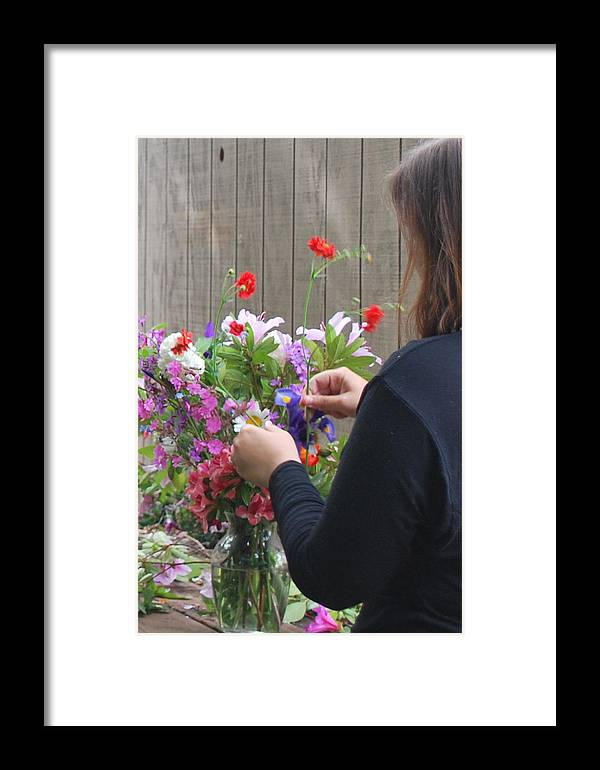 Viburnum Framed Print featuring the photograph Daniella's Flowers by Linda Sramek