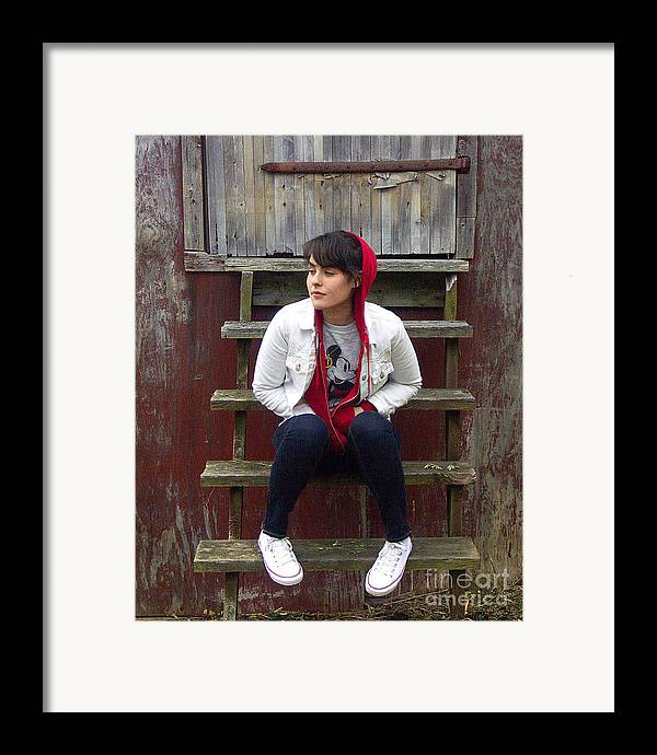 Framed Print featuring the photograph Danielle by Tom Romeo