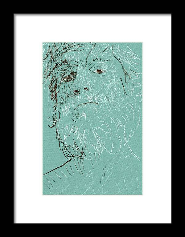 Framed Print featuring the pastel Danilo   by Cesar Terranova
