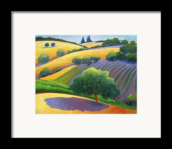 Landscape Framed Print featuring the painting Danny by Gary Coleman